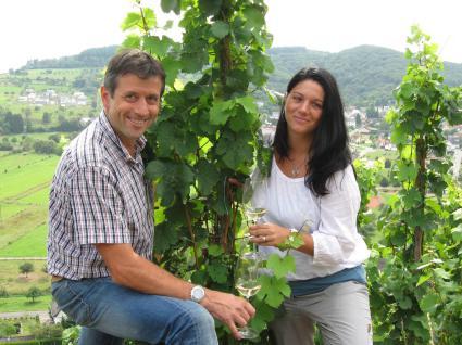 Winzer Bernd Eilenz und Frau